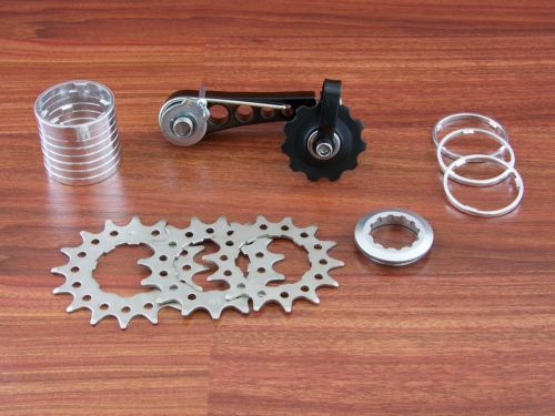 CNC SPACER KIT for Screw-on FIXED TRACK COG Freewheel Cassette Shimano Hub UK