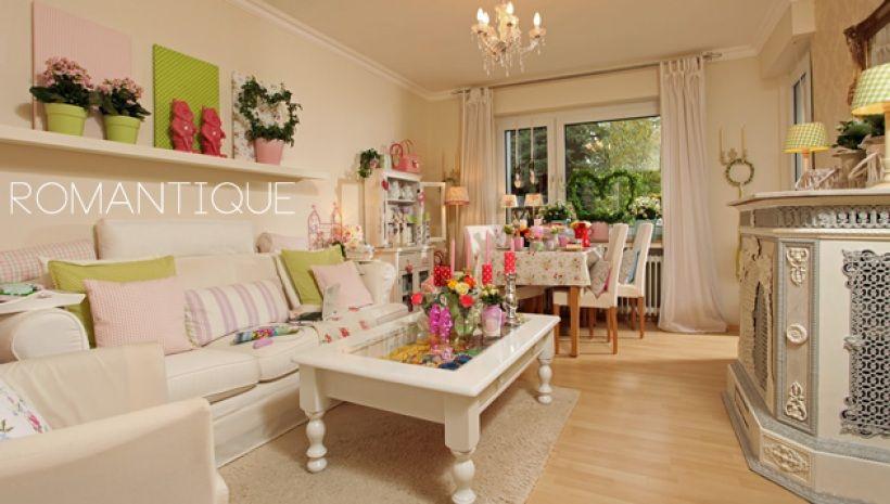 Jolie déco maison style romantique salon romantiqueidee salonidee decorechercheromantique décor