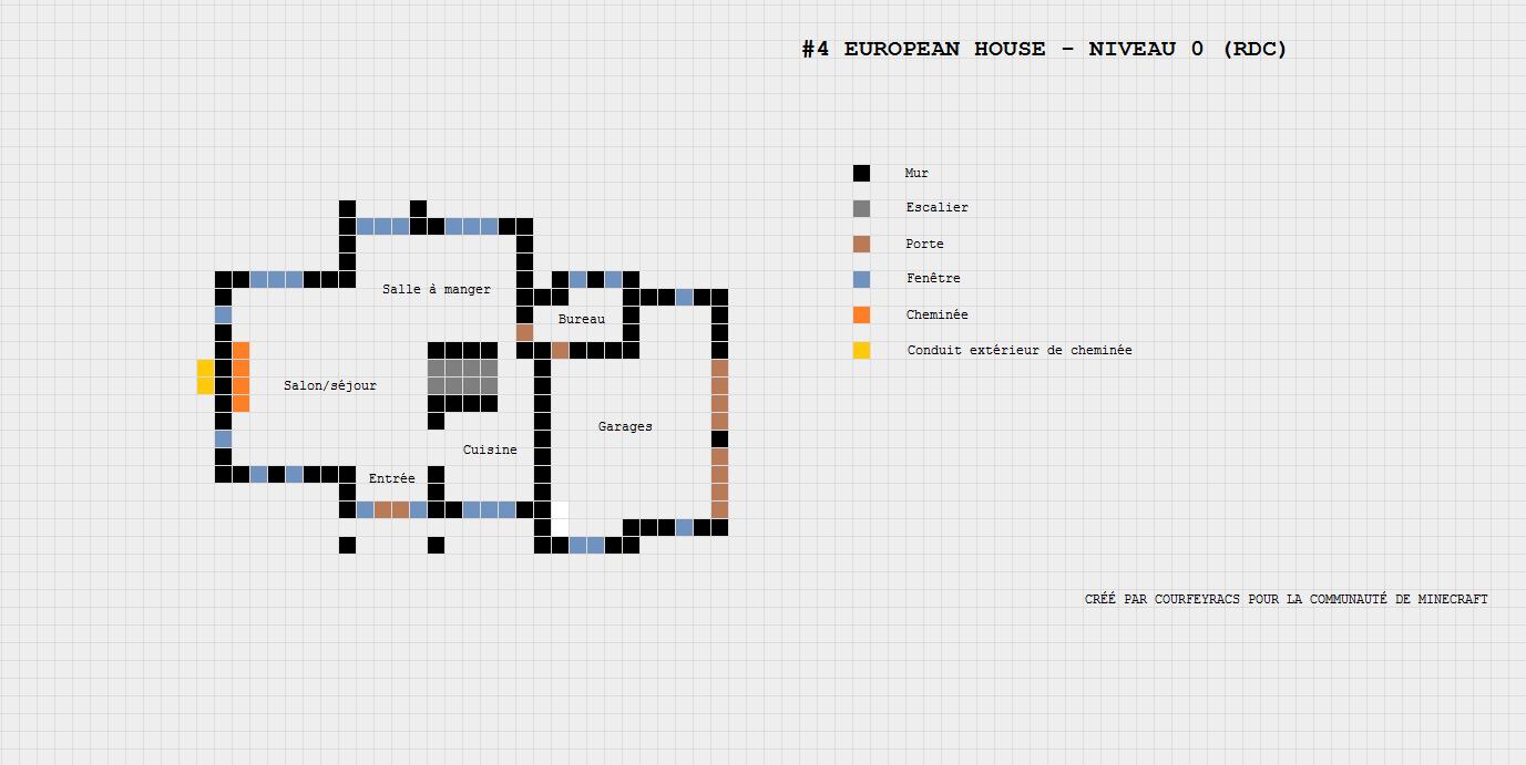 Assez Plan d'une maison Européenne | Minecraft-Constructor | minecraft  IY28