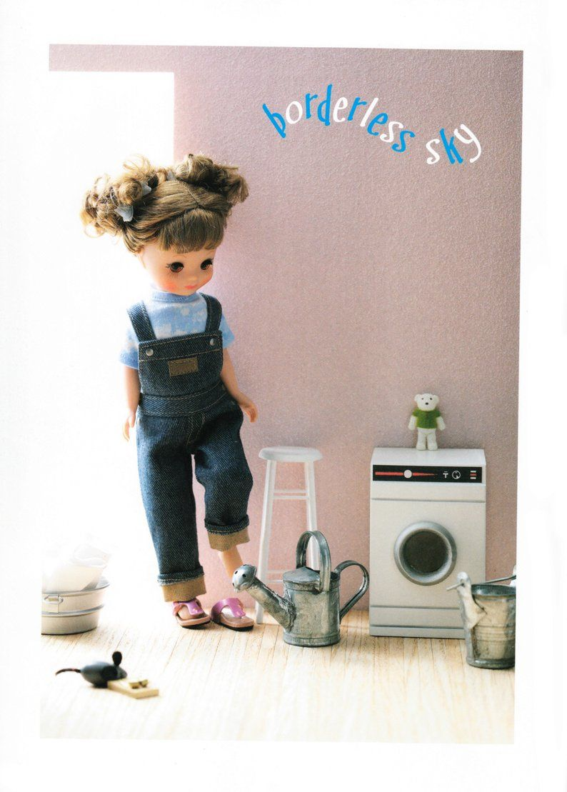 DCR5\TB1 Tiny Betsy Doll E Pattern Japanese PDF Top Overalls \ Dungarees
