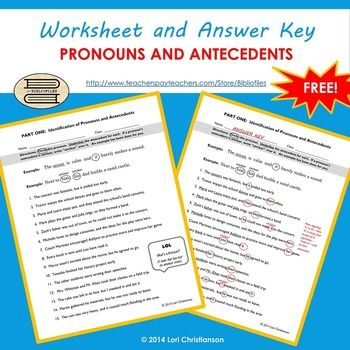 identifying types of pronouns worksheet pdf