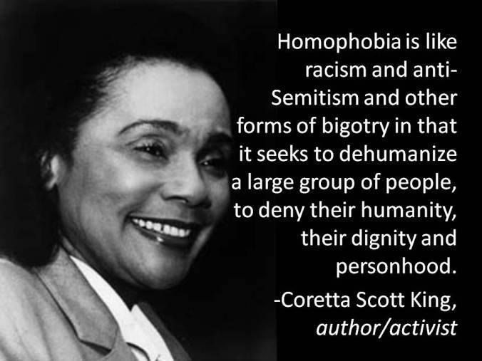 Pin By Suzanne DeWitt On Gay Christians LGBTQ Christians Yes You Inspiration Coretta Scott King Quotes