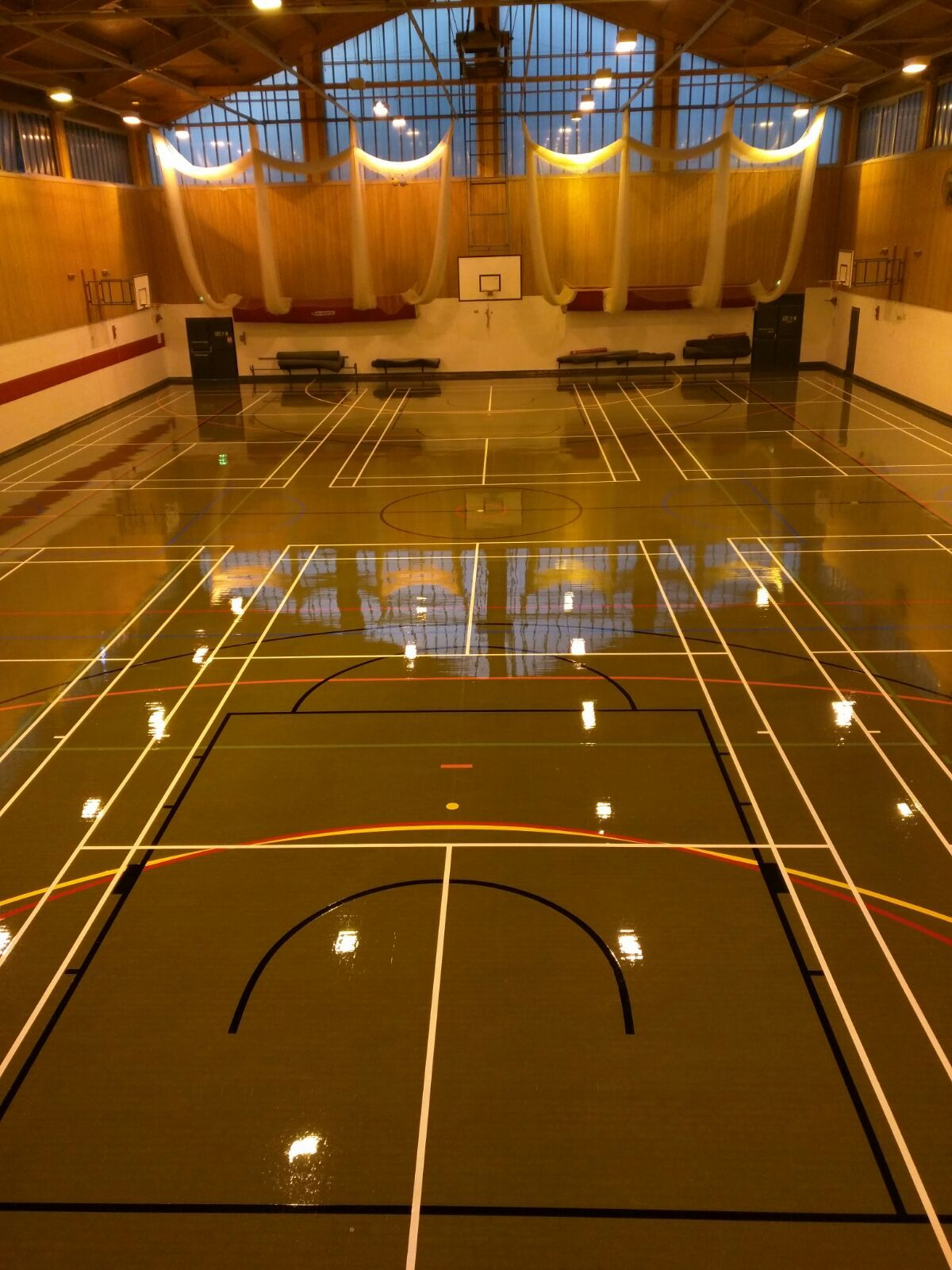 Sports Halls - Sport & Play service and maintain sports hall floors & equipment