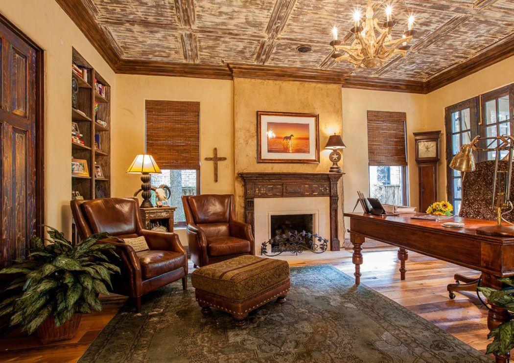 Maison rustique à l intérieur en bois et ambiance bien conviviale