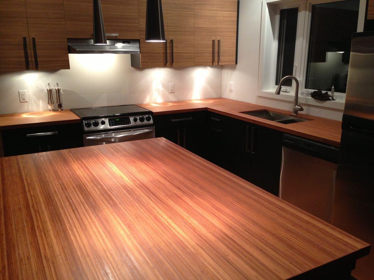 Best Beautiful Bamboo Vertical Amber Kitchen Countertop 400 x 300