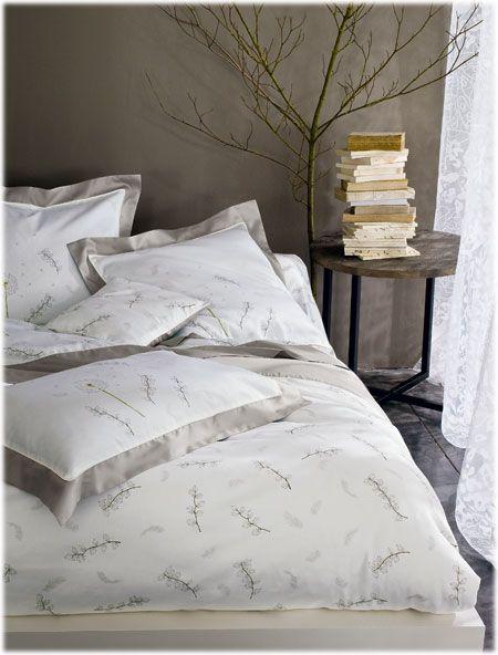 Jardin Secret Plume argent | Designing a bedroom | Linge de Lit, Lit ...