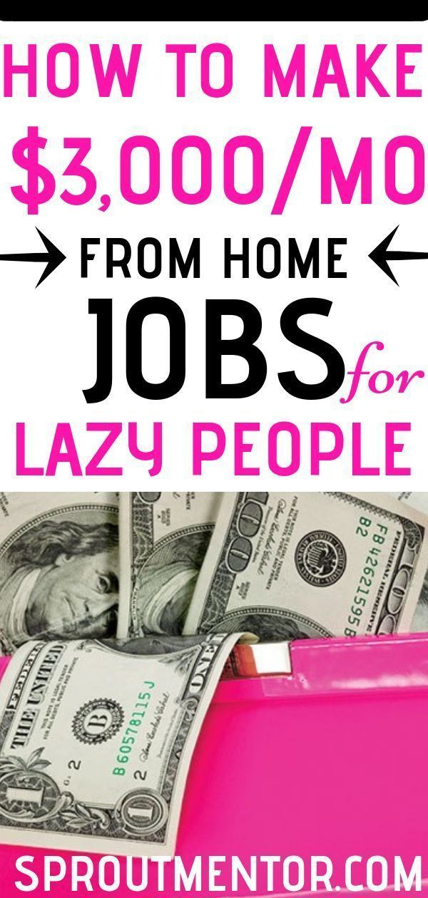 21 Easy Jobs For Lazy People | Work from home jobs, Work ...