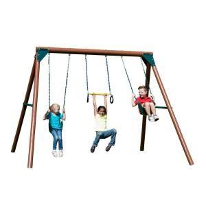 Swing N Slide Playsets Orbiter Wood Complete Swing Set New House