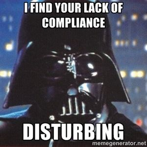 I Find Your Lack Of Compliance Disturbing Darth Vader Star Wars Happy Birthday Darth Vader Impressive Star Wars