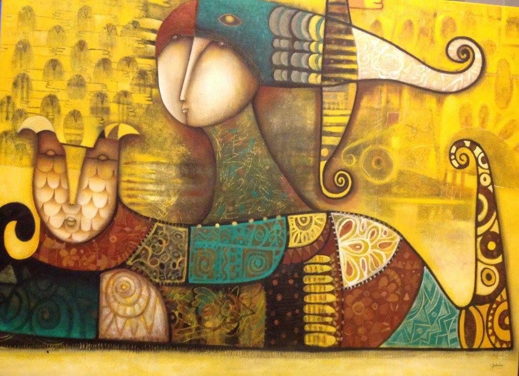 Artist : Claudia Nery / Title : El Aprecio / Dimensions : 90 x 120 cms / Technique : Oil Paint on Canvas / Price : MXN $22,000 / Status : Available / Year : 2015