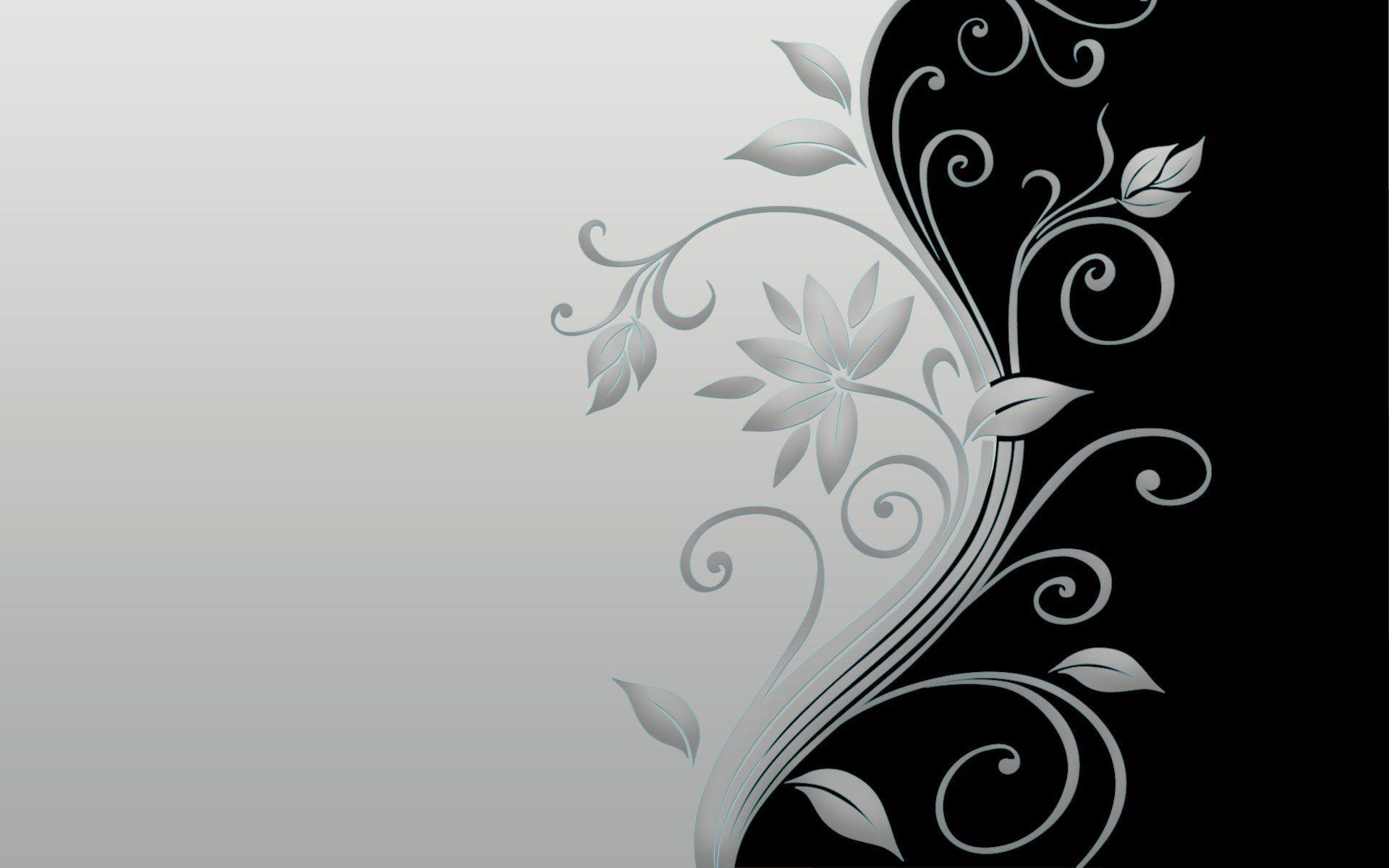 Abstract Design Flower Wallpaper: Abstract Flowers Design HD Widescreen Desktop Wallpaper