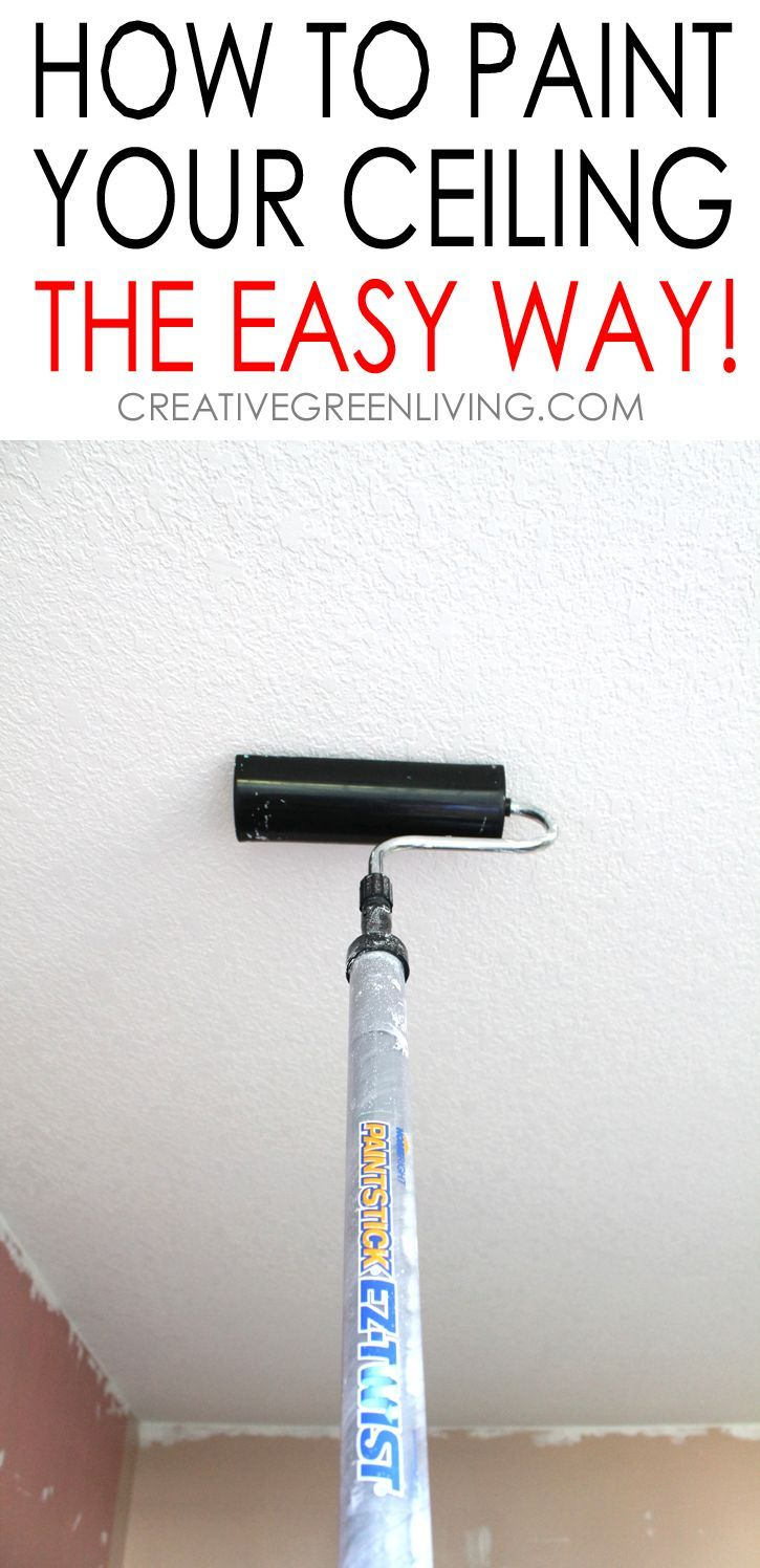 How to Paint a Ceiling - tips to do it the fastest ...
