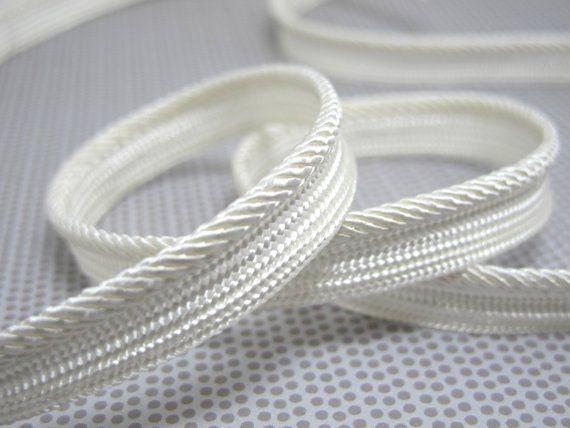 5 Yards 3 8 Inch White Twisted Braided Lip Cord Trim Piping Trim