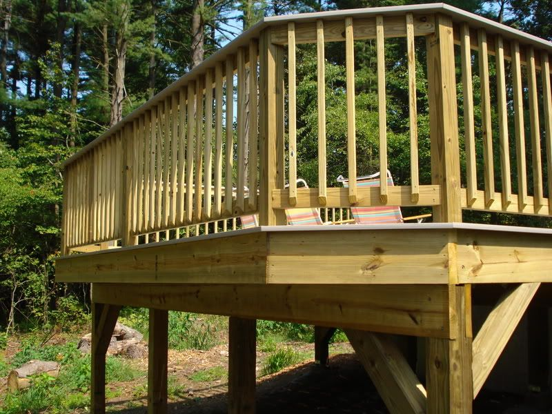 Looking for railing ideas to keep from having to replace for How to install decking