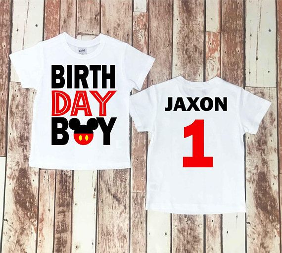 Mickey Mouse Birthday Shirt Baby Boy Clothes