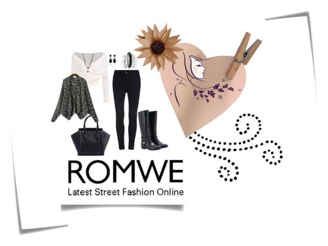 """Romwe"" by minichyna ❤ liked on Polyvore featuring Ettika, Avenue, Jorge Adeler and Post-It"