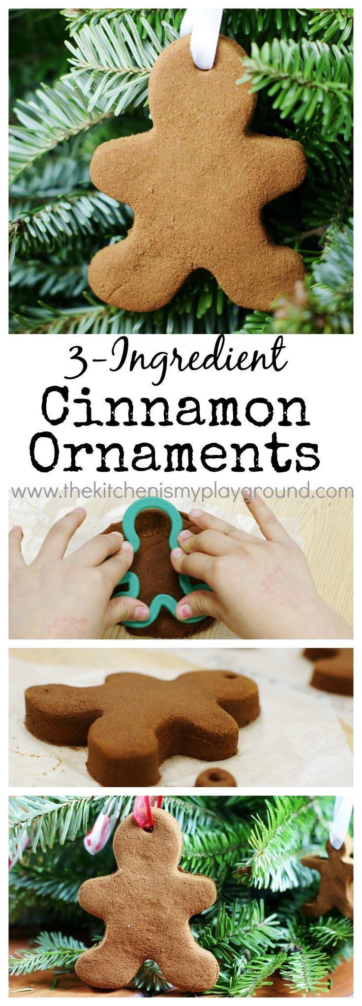 Easy 3-ingredient Cinnamon Ornaments ~ the perfect kid ...