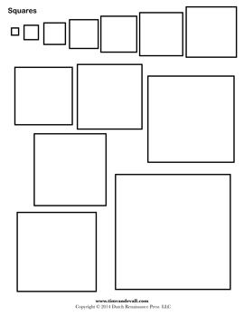 Clever image in square template printable
