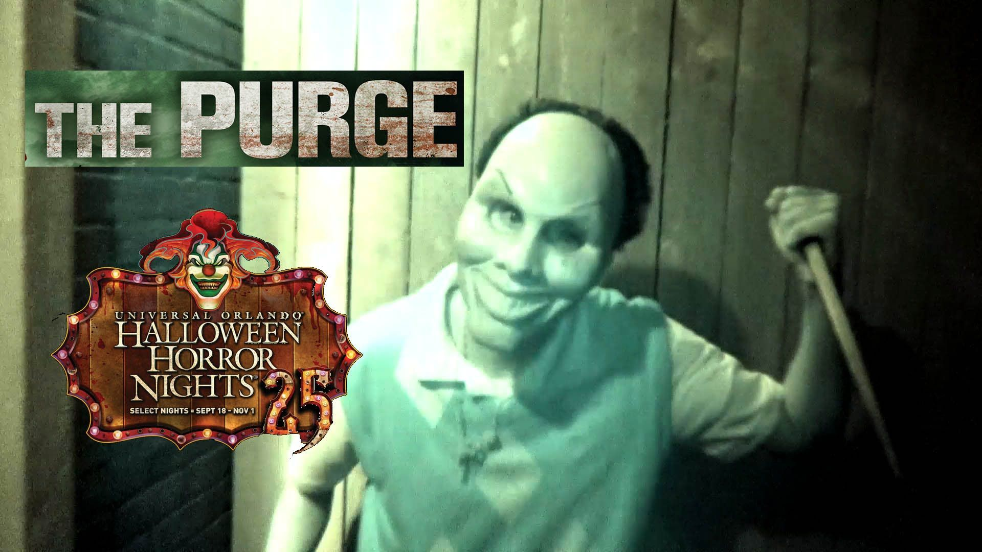 the purge haunted house maze walk through halloween horror nights