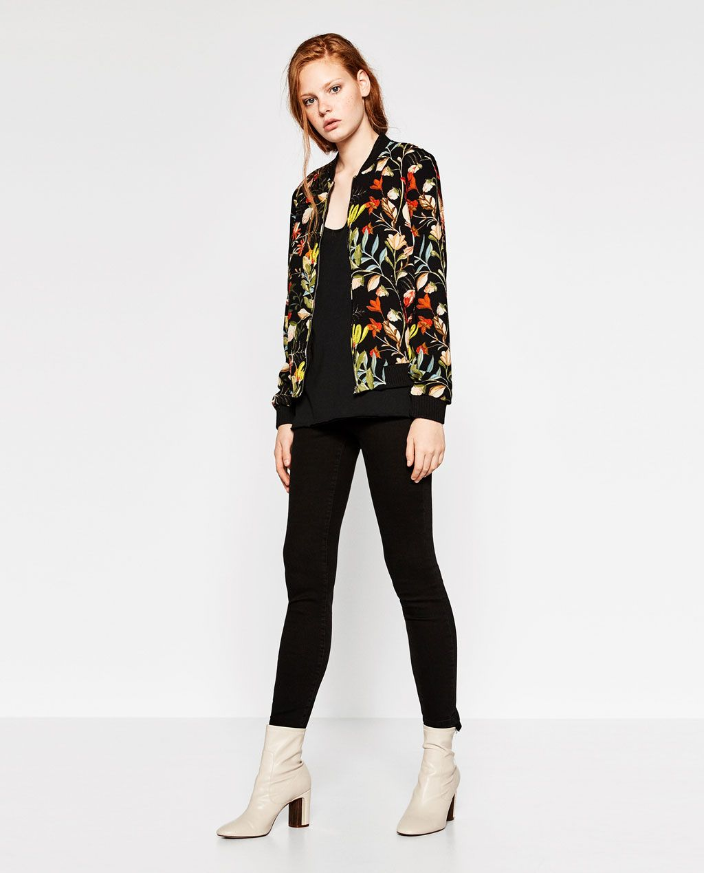 f965175ccfd Image 1 of FLORAL PRINT BOMBER JACKET from Zara