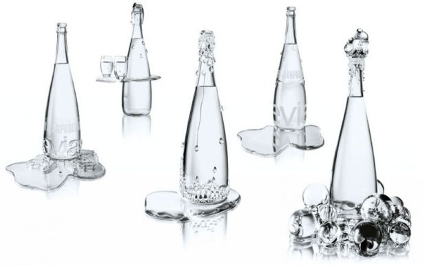 Amazing Evian water limited bottles