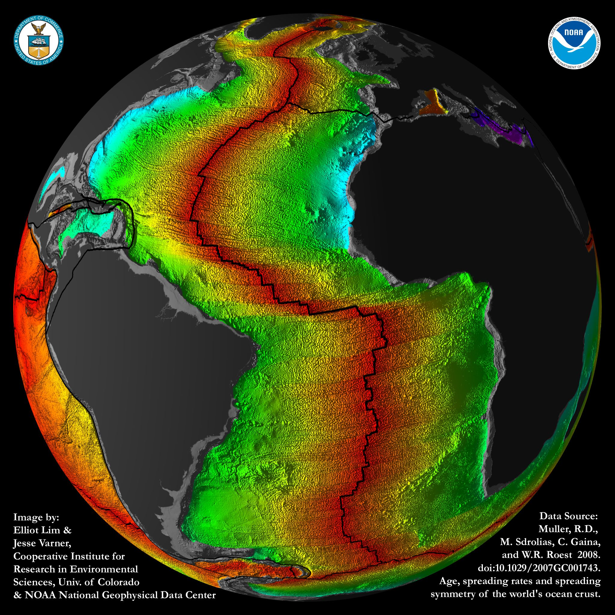 Images Crustal Ages Of The Ocean Floor Ngdc Noaa Gov