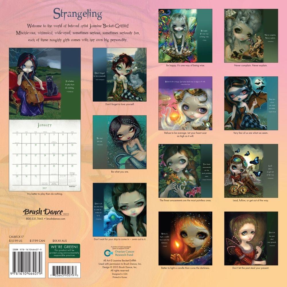 Strangeling Beckett Griffith 2019 Wall Calendar Calendars Cards