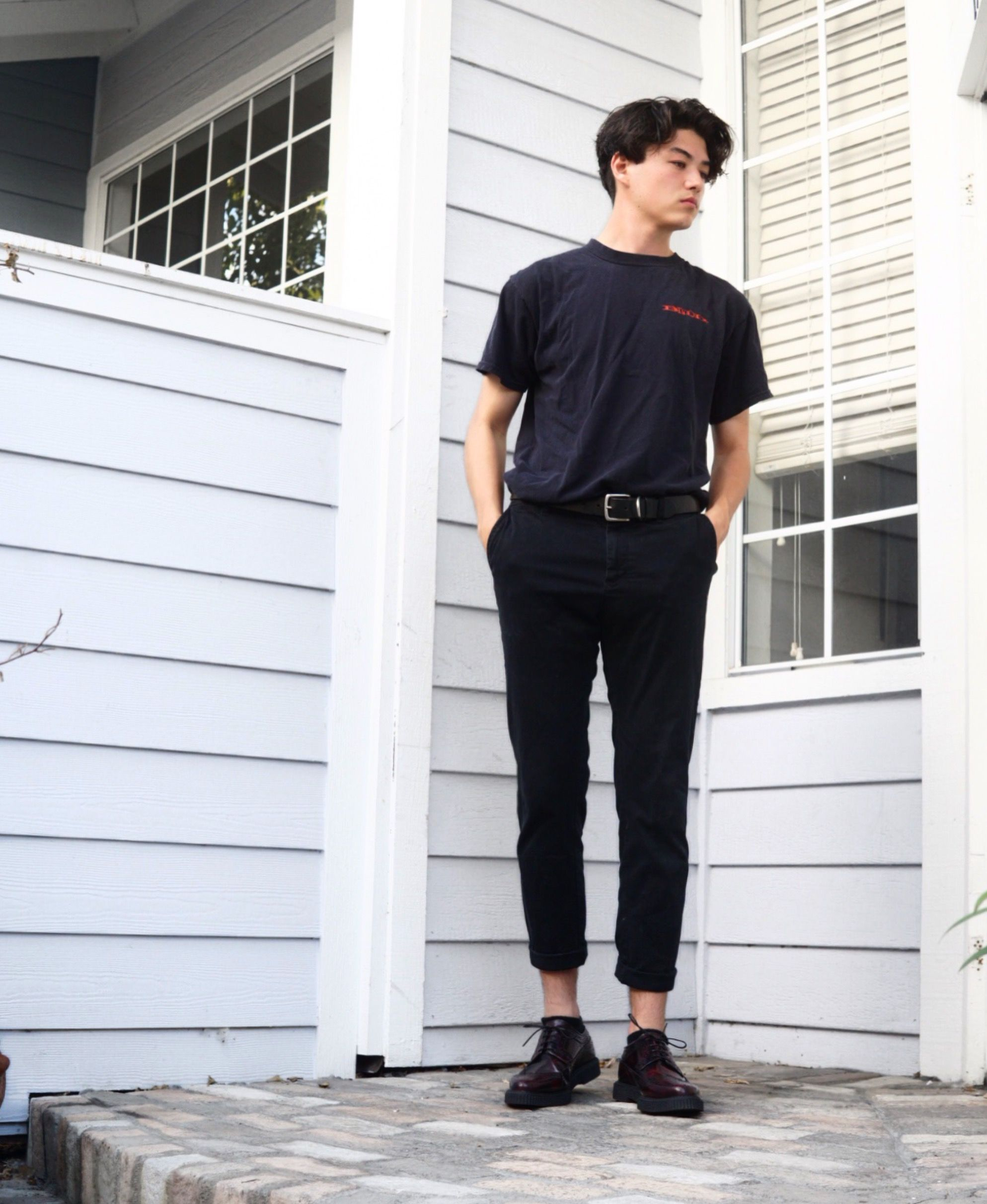 Wdywt A Bunch Of Fits From The Last Few Months Cropped Baggy Minimal Http Ift Tt 2xs9a89 Mens Street Style Korean Fashion Men Mens Fashion Casual