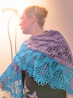 Zissy leaf shawl, pattern in pdf