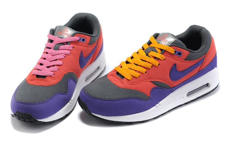Wholesale Nike Air Max 1 Womens Blue Red Black for sale $119.99