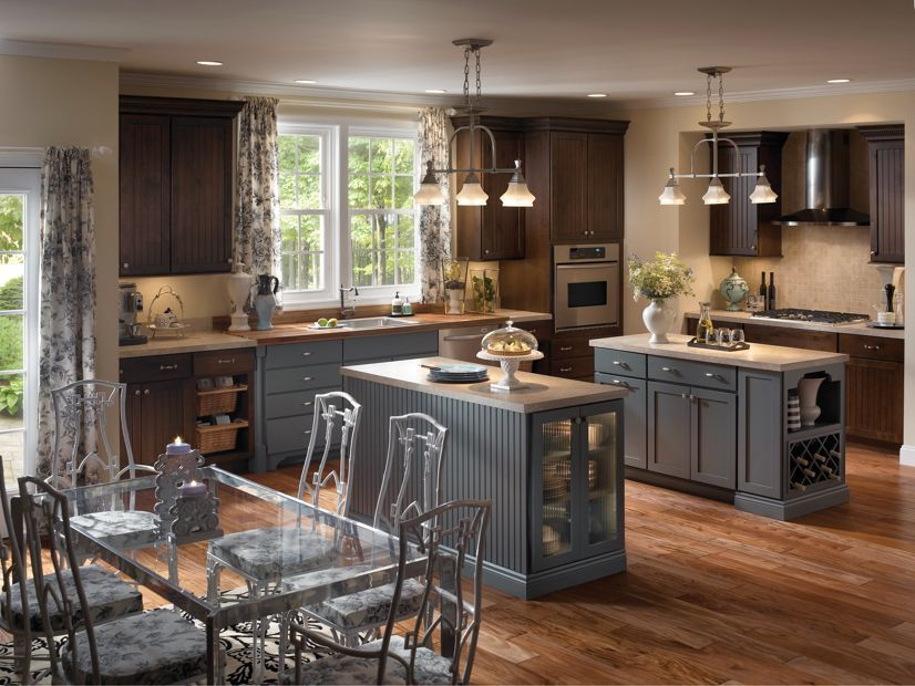 Medallion At Menards Cabinets Provence And Chatham Eclectic Kitchen Black Kitchen Decor Online Kitchen Cabinets