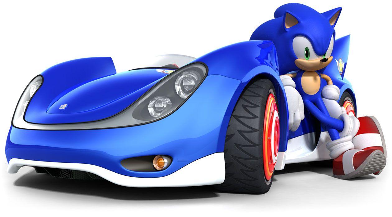 Sonic S Vehicle From Sonic Sega All Stars Racing Sonic Sonic Heroes Sonic Car