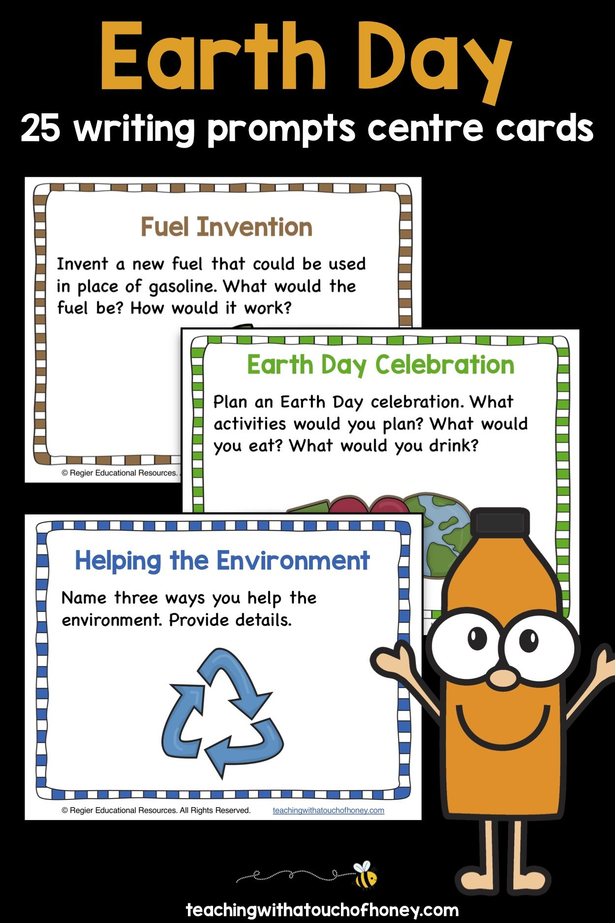 Earth Day Writing Prompts Center Activity Cards