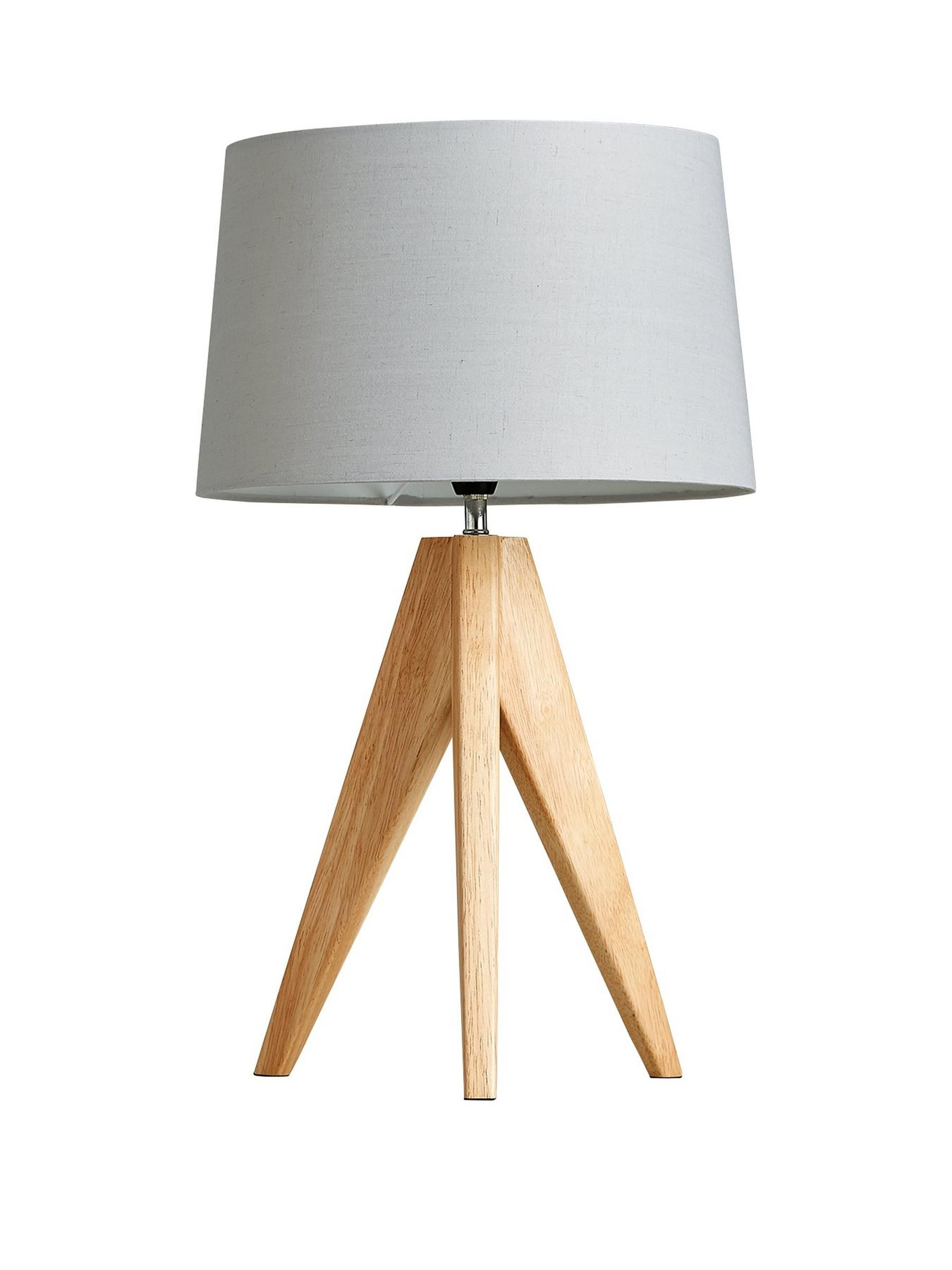 Thea Tripod Table Lamp Tripod table lamp, Wooden table
