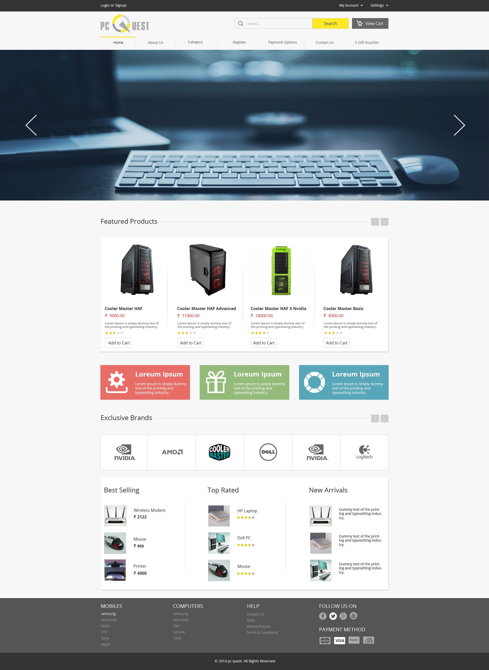 Well designed Computer shop theme. Sell365 India\'s best Online Store ...