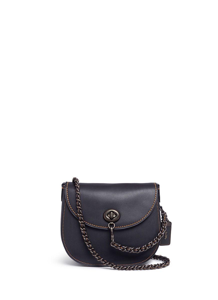 1323d4997a Coach Leather Chain Strap Shoulder Bag