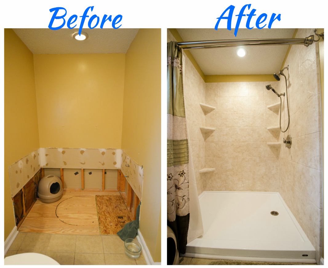 Complete Bathroom Remodel - Tub to Shower Conversion - walk in