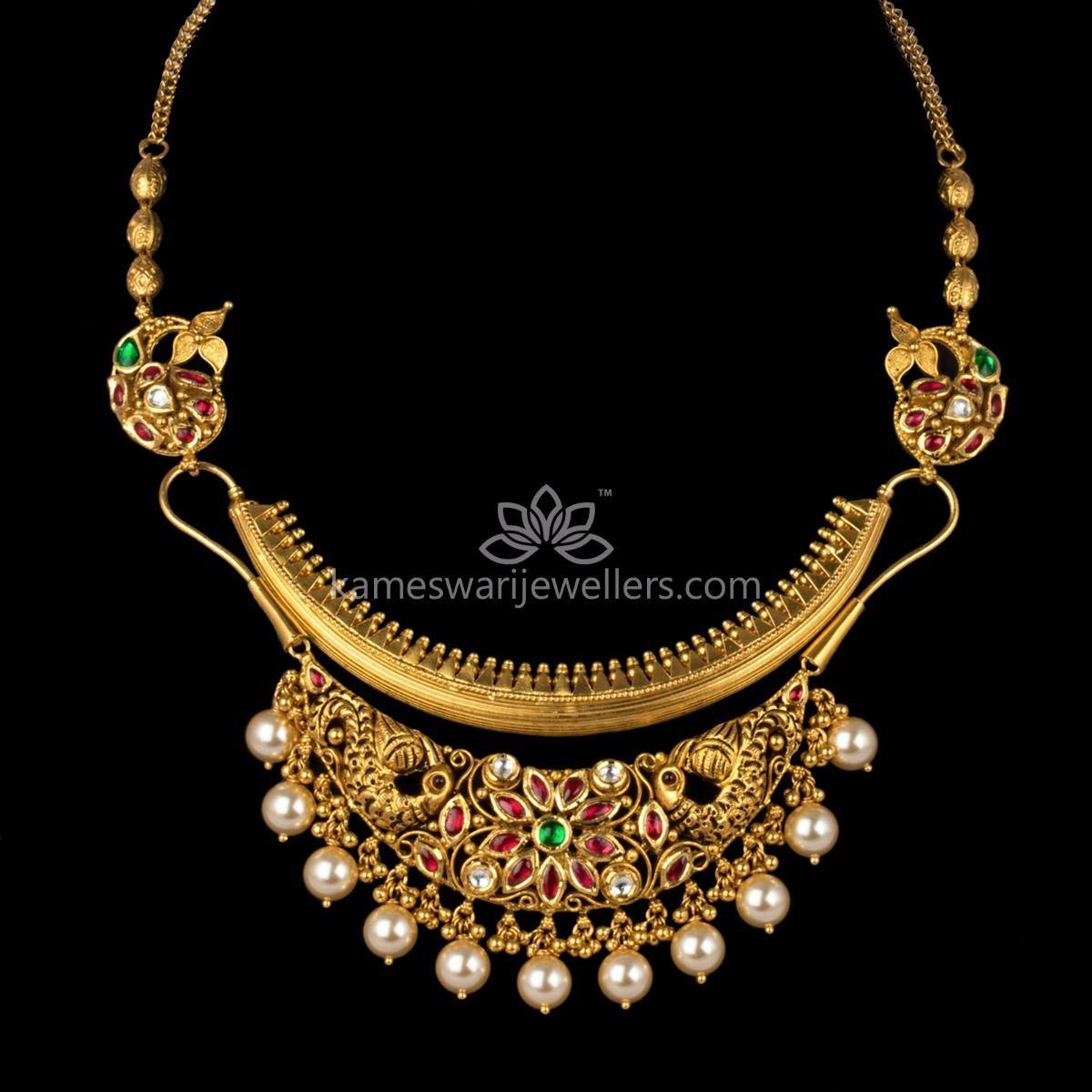 80ad2b9df0 Designer Luxuria | Kameswari jewellers | Gold jewelry, Necklace ...