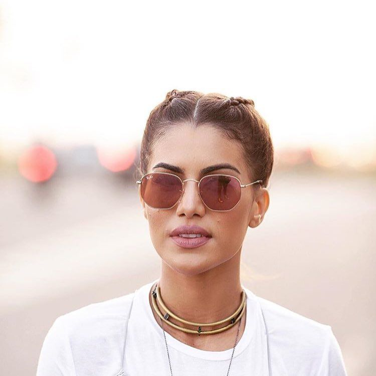 25a4cd7df2a13 camila coelho in rayban rb3548n hexagonal  sunglasses  shades  fashion   streetstyle  bloggers  models  topmodels  gafas  gafasdesol   lunettesdesoleil   ...