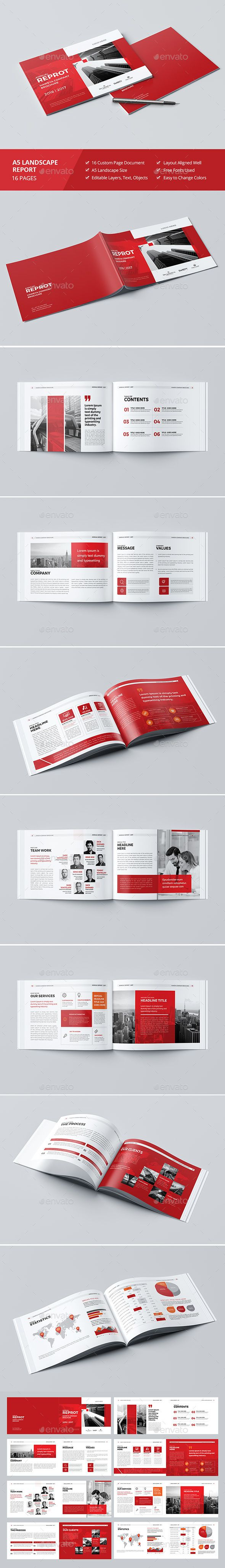 haweya landscape brochure template indesign indd 16 pages