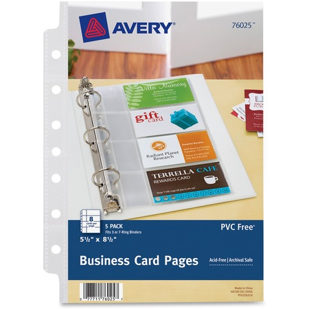 Avery Business Card Pages Mini Business Card Avery Business Cards Business Card Organizer