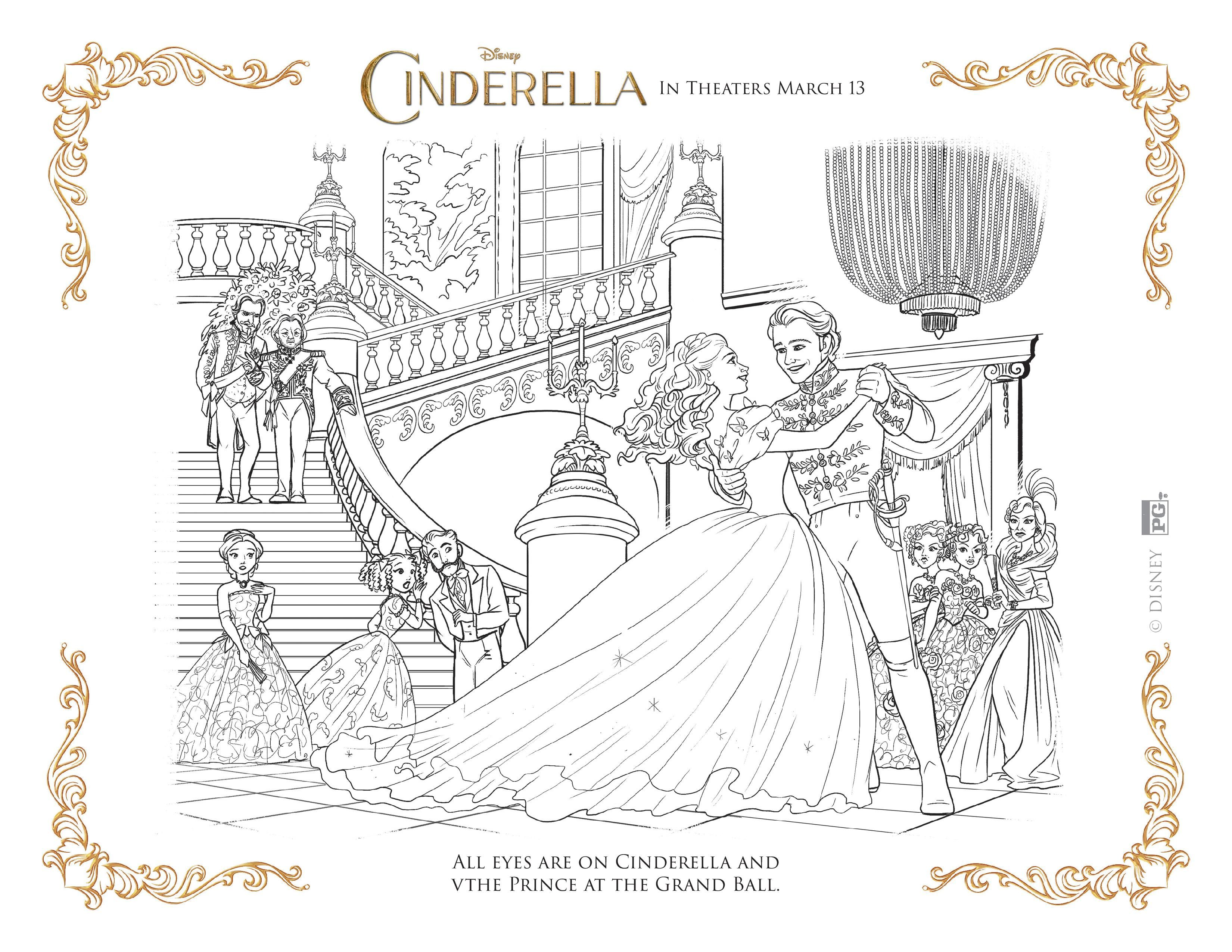 NEW Disney\'s Cinderella Coloring Pages and Activity Sheets | Adult ...