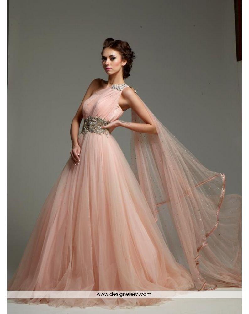 De Wonderful Peach Colored Engagement Gown