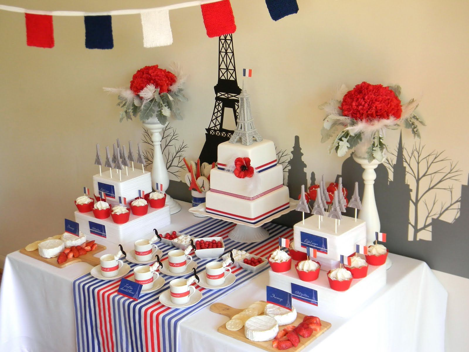 French party perdon my french pinterest french themed parties birthdays and themed parties - French themed table decorations ...