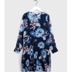 Photo of Gant Marine Paisley Chiffon Dress (Blue) GantGant