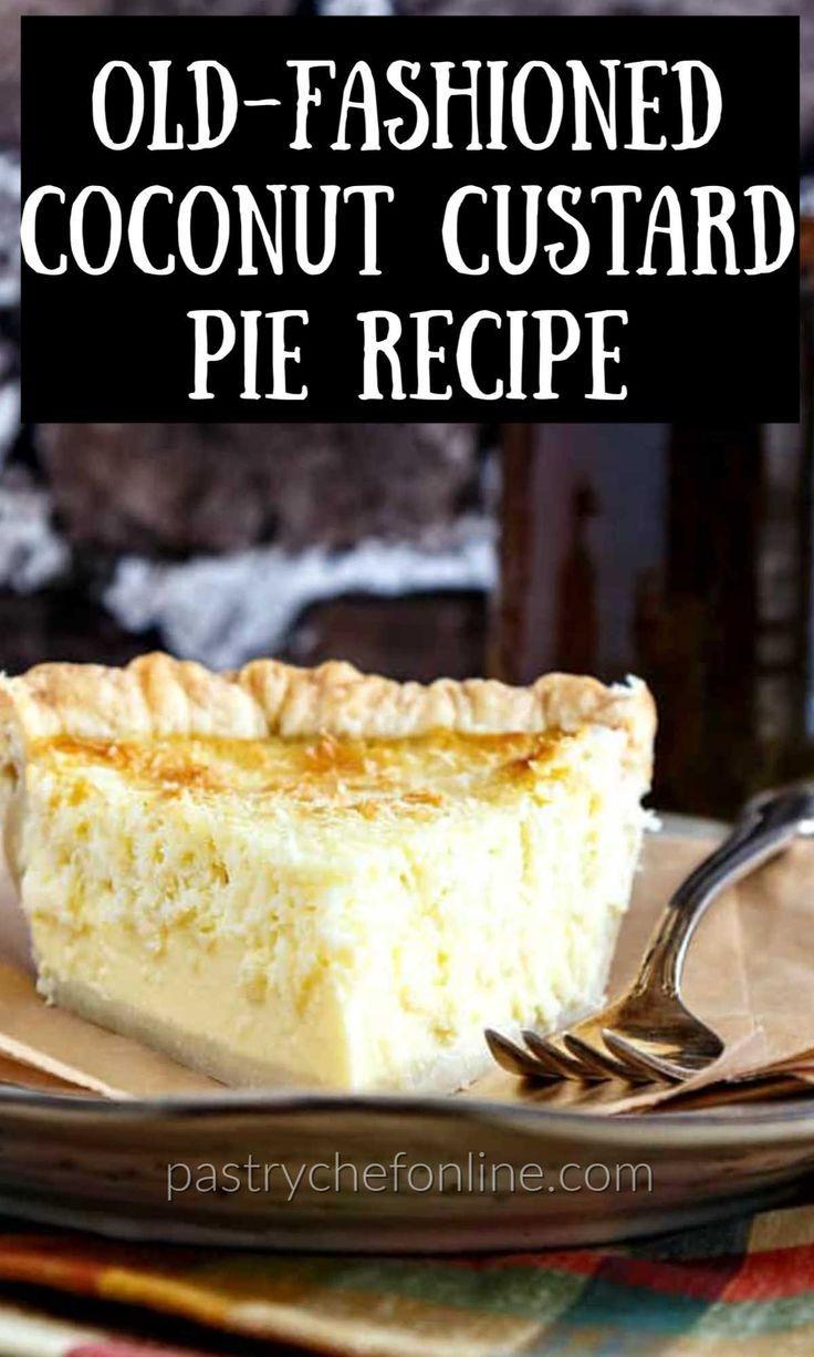 Classic Coconut Custard Pie