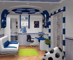 soccer room.. made for my boy.. I\'ll make him like this. | chambre ...