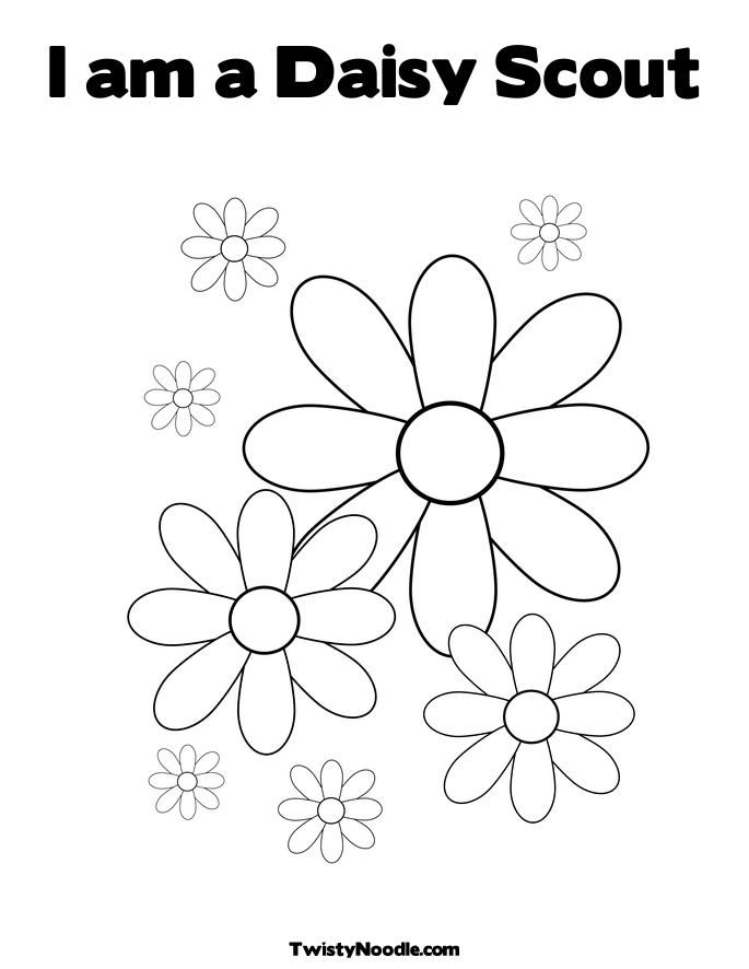 coloring pictures of girl scouts daisy | am a girl scout daisy ...