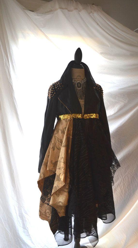Women\'s leather jacket, rock star style long coat, FOR ASHLEY ...