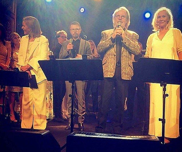Close: Björn and Agnetha were previously married from 1971 to 1980, while Benny and Frida also divorced in 1980 after marrying in 1978